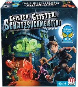 Geister, Geister, Schatzsuchmeister! Kinderspiel des Jahres 2014 Vorderseite